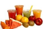 petit dejeuner fruits jus smoothies