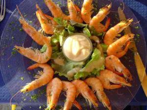 langoustines mayonnaise au regime minceur