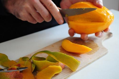 mangues, pleines de vitamine C, très bon pour l'hiver