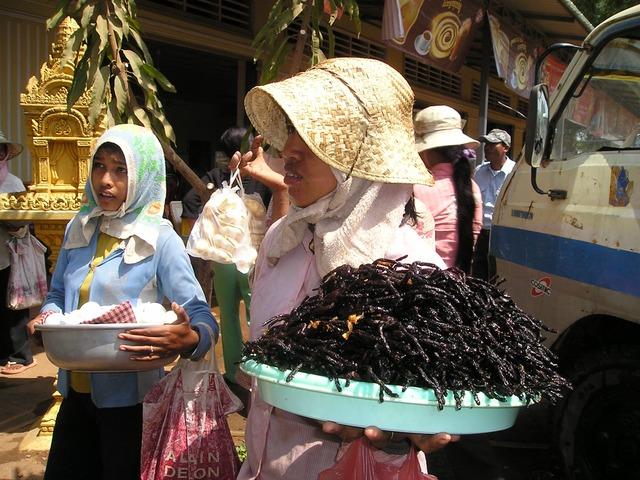 tarentules frites au Cambodge un temps d'avance dans l'alimentation de demain